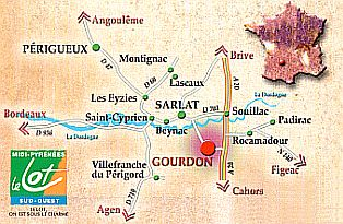 Map Lot - Gourdon